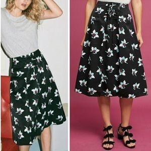 Anthropologie x Maeve Zadie Floral Midi Skirt
